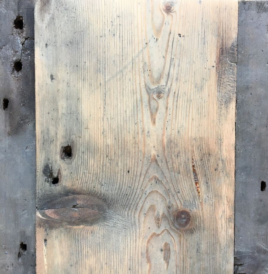 Reclaimed 135mm roofboards (lightly sanded section)