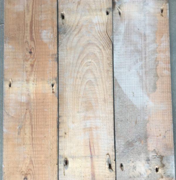 Reclaimed 132mm floorboard (rear of boards)