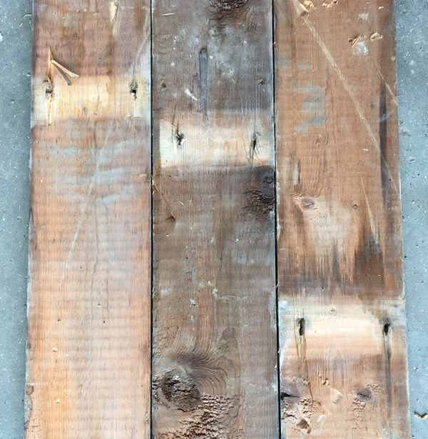 Reclaimed 125mm floorboards (rear of boards)