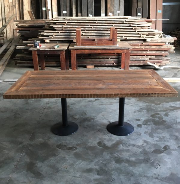 Reclaimed timber table 6 seater