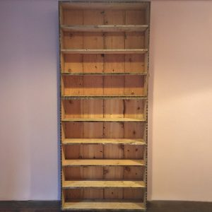 Reclaimed timber bookshelf