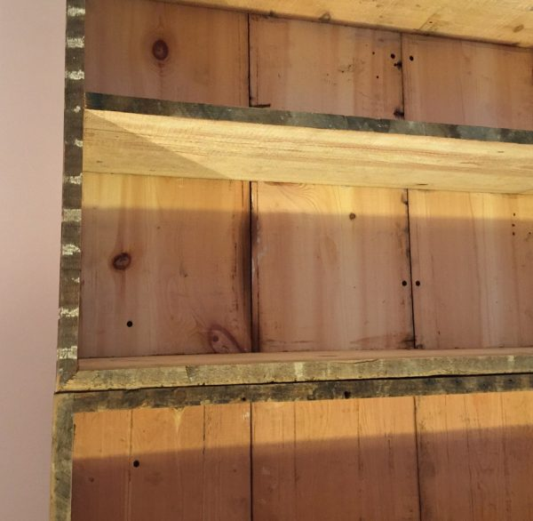 Reclaimed timber bookshelf