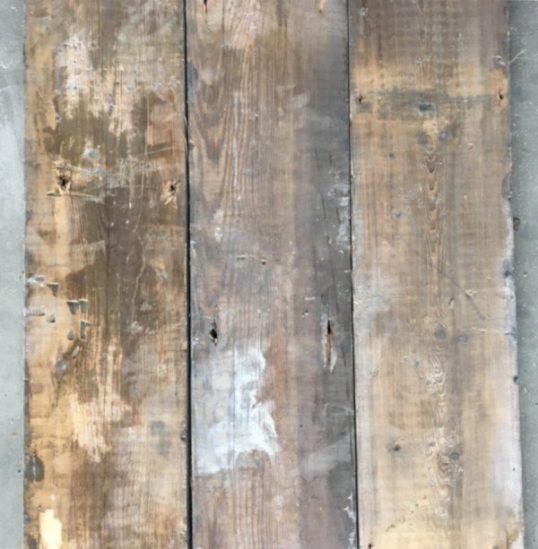 Reclaimed 145mm floorboards (rear of boards)