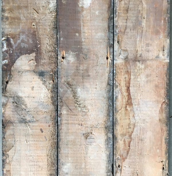 Reclaimed floorboards 162mm (rear of boards)