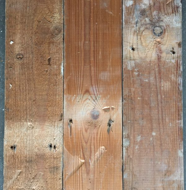 Reclaimed pine strip 100mm (rear of boards)