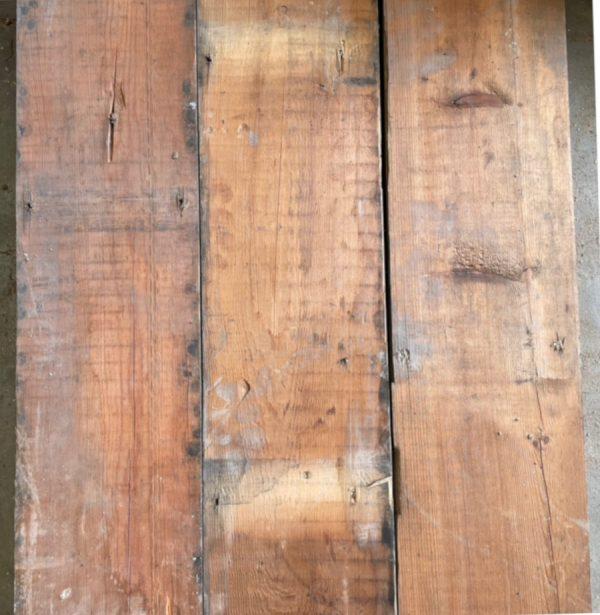Reclaimed 145mm pine floorboard (rear of boards)