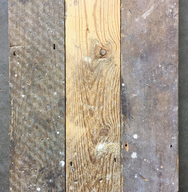 Reclaimed pine floorboards 105mm