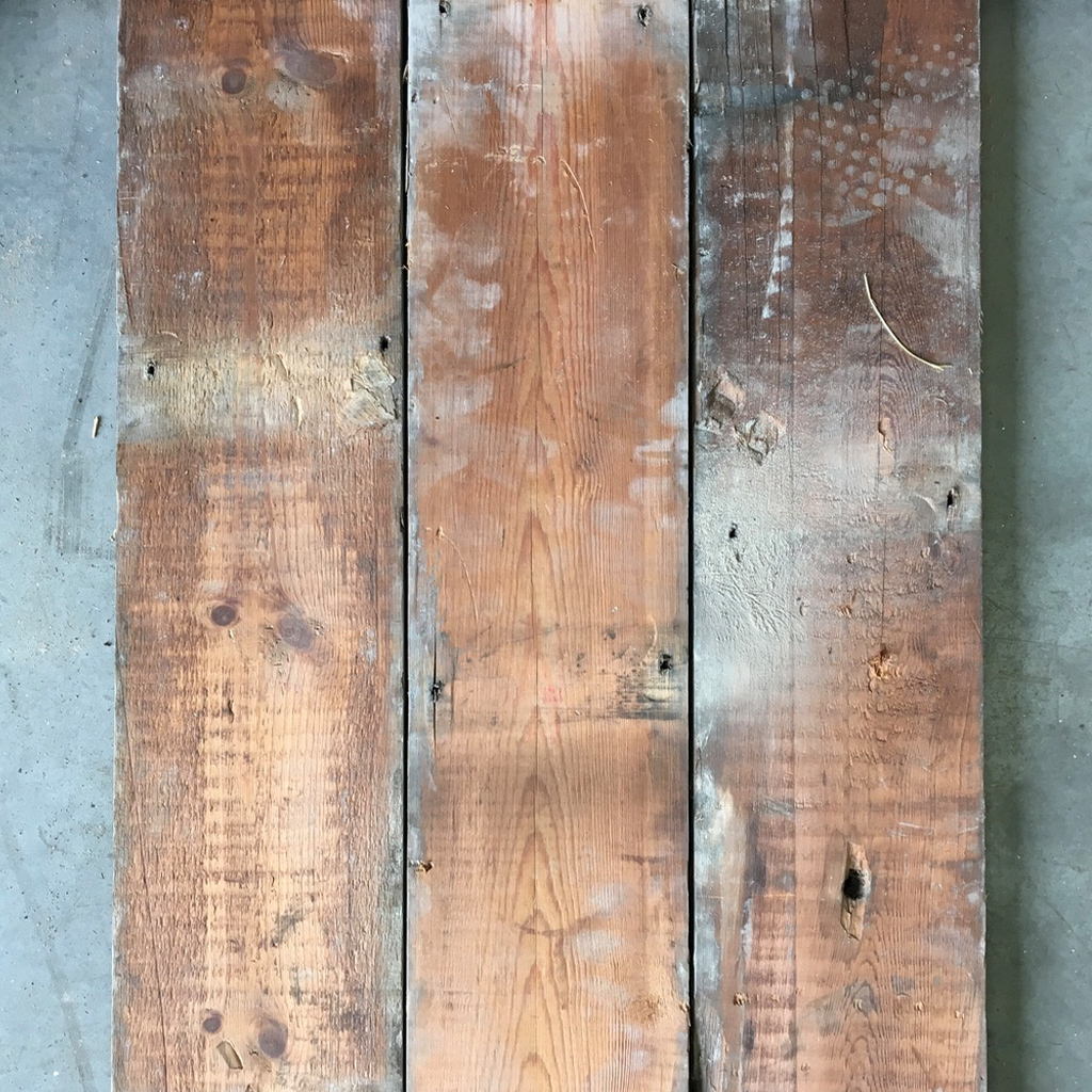 Reclaimed 145mm floorboards (rear of boards)