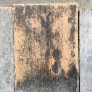 Reclaimed 145mm floorboard (lightly sanded section)