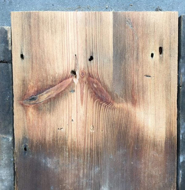 Reclaimed roofboard 195mm (lightly sanded section)