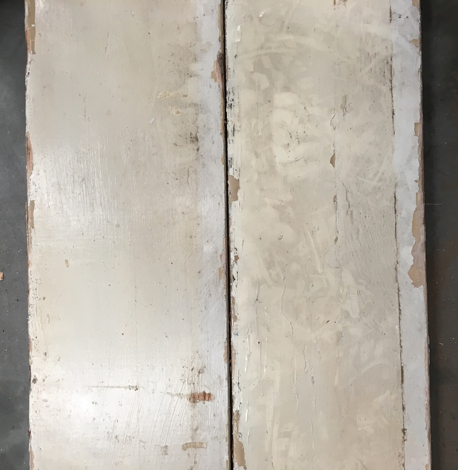 Reclaimed 225mm re-sawn (crackle paint side)