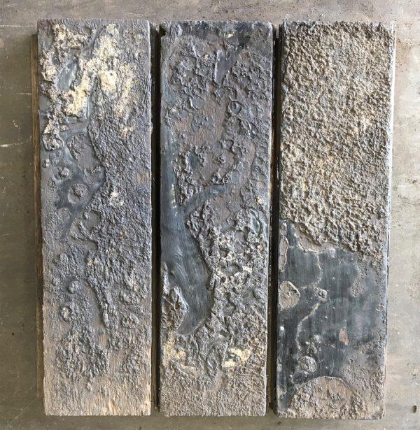 Reclaimed oak parquet (rear of blocks).