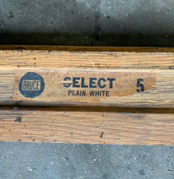 Reclaimed oak strip 57mm (rear of boards)