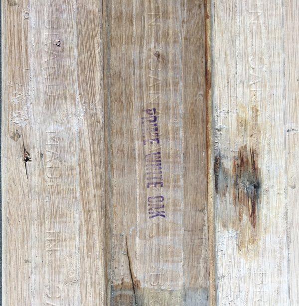 Reclaimed oak strip 57mm (rear of board)