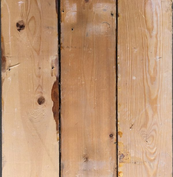 Reclaimed 118mm floorboards (rear of boards)