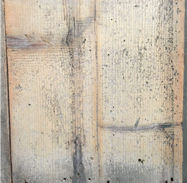 Reclaimed floorboards 300mm (lightly sanded section)