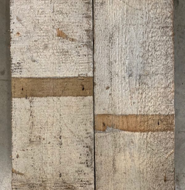 Reclaimed painted wall cladding boards