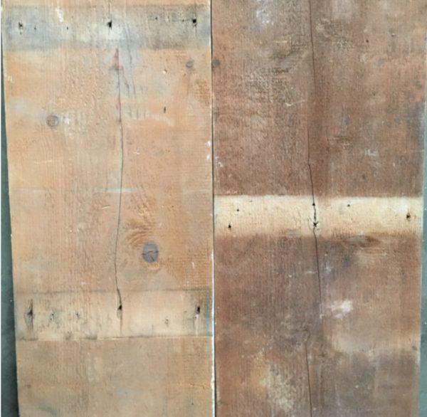 Reclaimed floorboards 300mm (rear of boards)