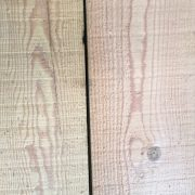 Reclaimed Douglas fir cladding (rear of boards)