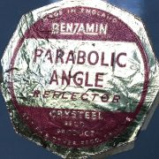 Iconic enamel factory light by Benjamin.