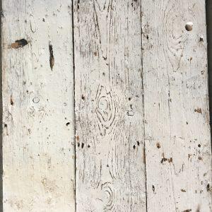 Reclaimed painted floorboard