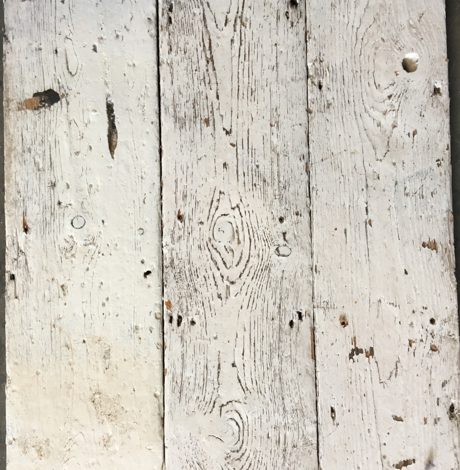 Reclaimed painted floorboard