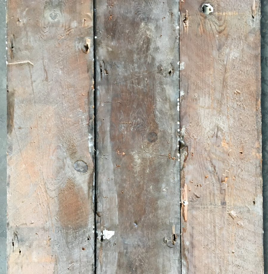 Reclaimed painted floorboard (rear of boards)