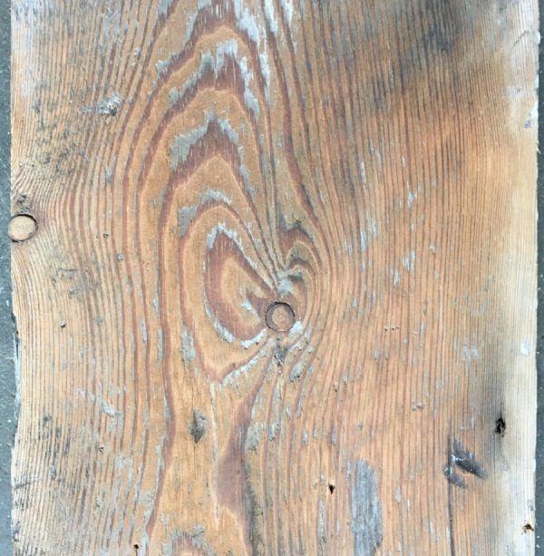 Reclaimed painted floorboard (lightly sanded section)
