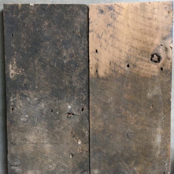 Reclaimed wide roofboards