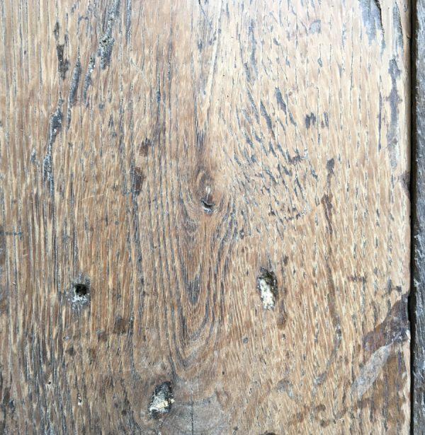 Georgian oak floorboards (lightly sanded section)