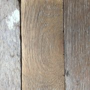 Reclaimed oak parquet (lightly sanded section)