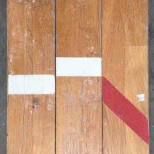 Reclaimed oak strip gym floor