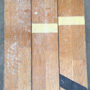 Reclaimed oak strip gym floor