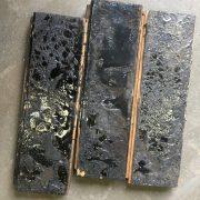 Reclaimed oak parquet (rear of blocks)
