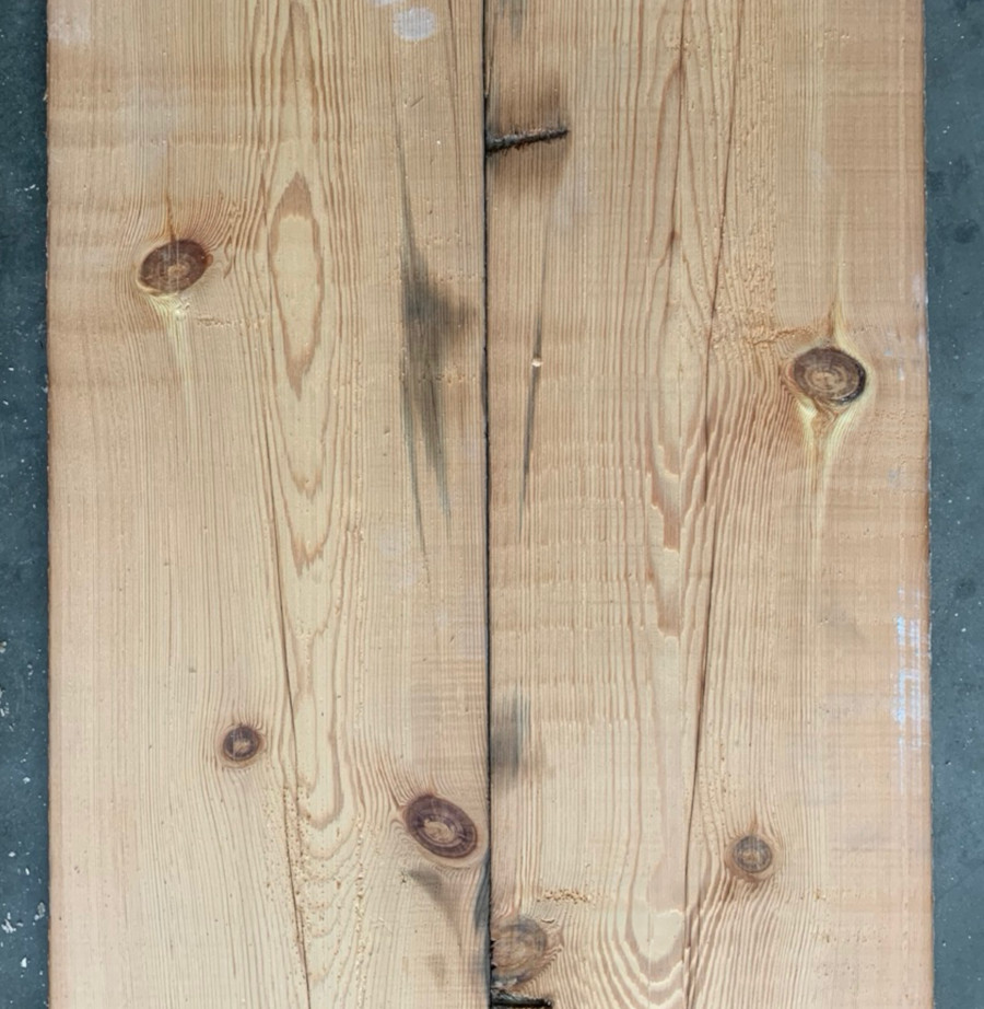 Re-sawn reclaimed pine boards 220mm