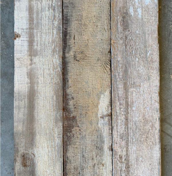 Reclaimed re-sawn pine board (rear of boards)