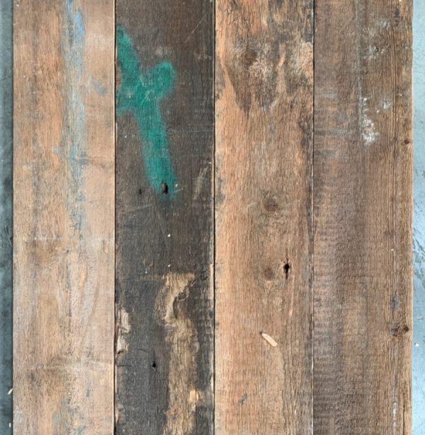 Reclaimed 128mm re-sawn (rear of boards)