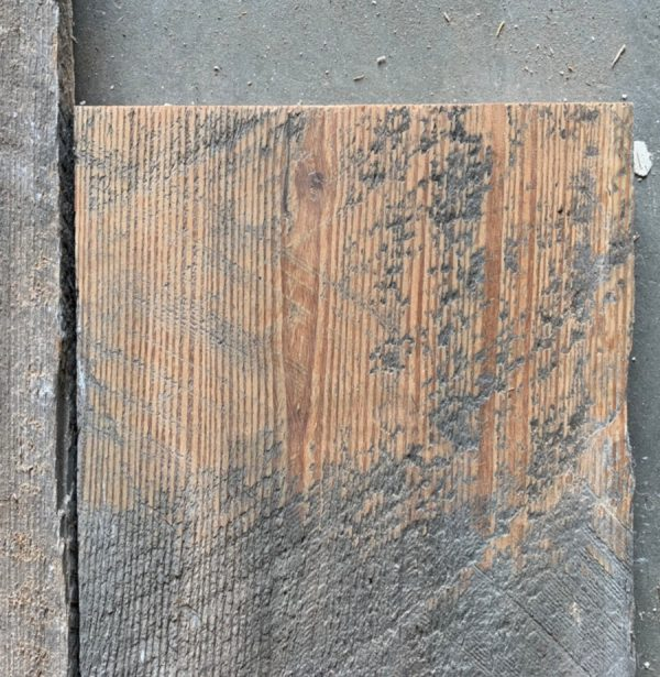 Reclaimed 225mm roofboard (lightly sanded section)