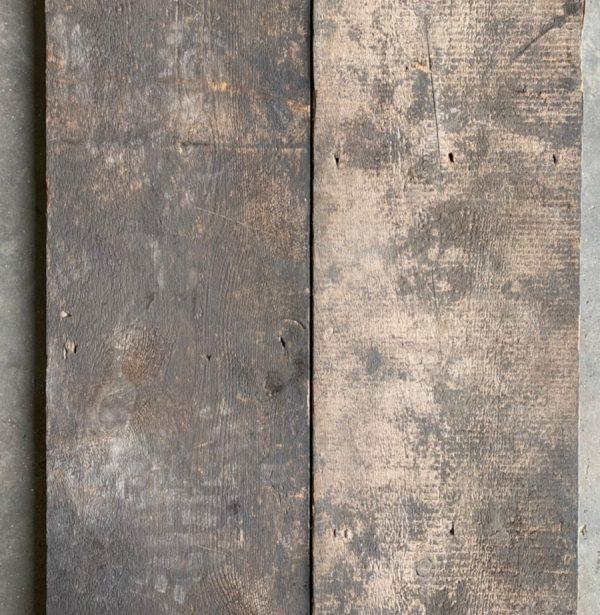 Reclaimed wide roof boards (rear of boards)