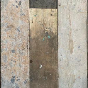 Reclaimed spilt scaffold board