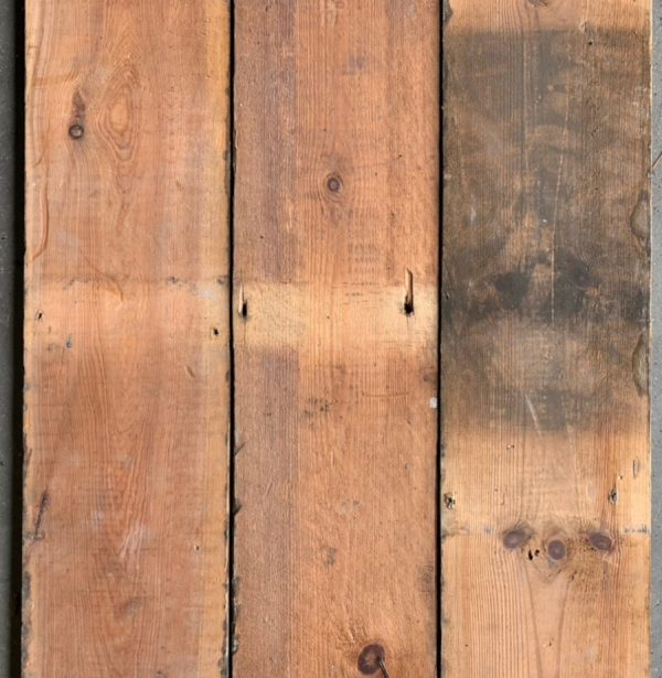 Reclaimed 147mm floorboard (rear of boards)