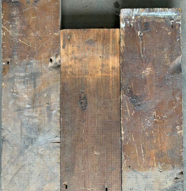 Reclaimed 147mm floorboards