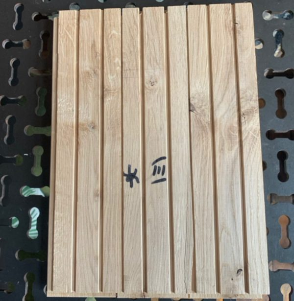 Oak parquet 300mmx72mm (rear of blocks)